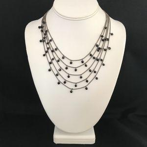 Premier Designs Necklace Hematite Black Beads